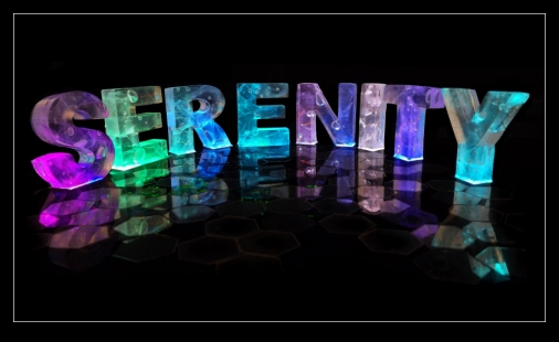 Name in 3D coloured lights